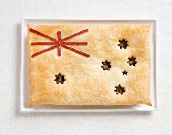 jedle vlajky vytvorene z jedla 2
