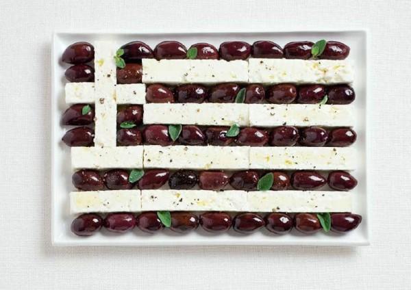 jedle vlajky vytvorene z jedla 6