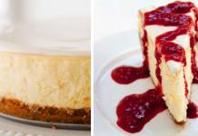 Cheesecake so smotanovou a malinovou polevou | Recept