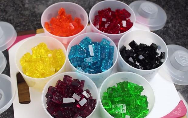 Gumené LEGO cukríky
