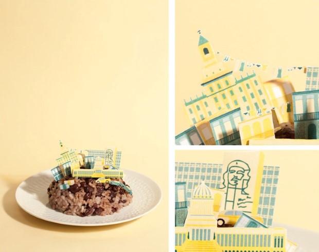 Bea Crespo and Andrea G. Portoles brunchcity jedle dioramy svetovych metropol 3