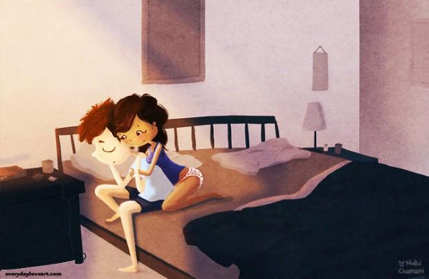 Hrejivé ilustrácie o láske