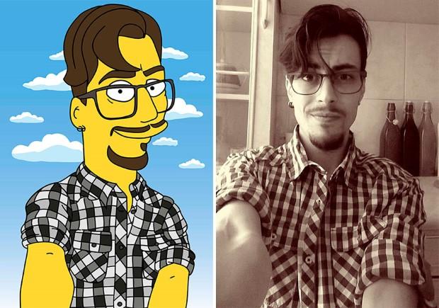 Valerie Zaremska Valerie Zaremska pretvára fotografie ľudí na karikatúry Simpsonovcov 1