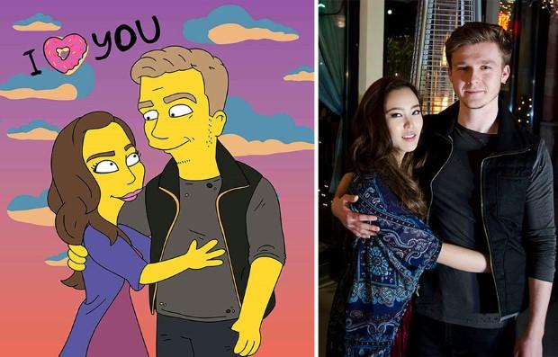 Valerie Zaremska pretvára fotografie ľudí na karikatúry Simpsonovcov 2