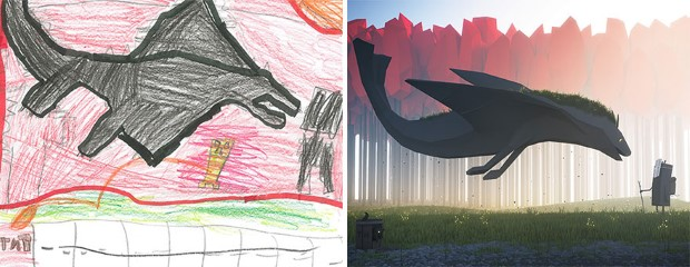 The Monster Project detské kresby dostavaju vdaka umelcom novy rozmer 1