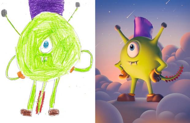 The Monster Project detske kresby dostavaju vdaka umelcom novy rozmer 10