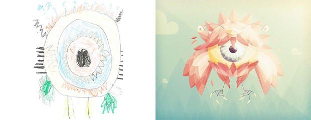 The Monster Project detske kresby dostavaju vdaka umelcom novy rozmer 11