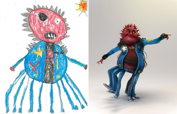 The Monster Project detske kresby dostavaju vdaka umelcom novy rozmer 12