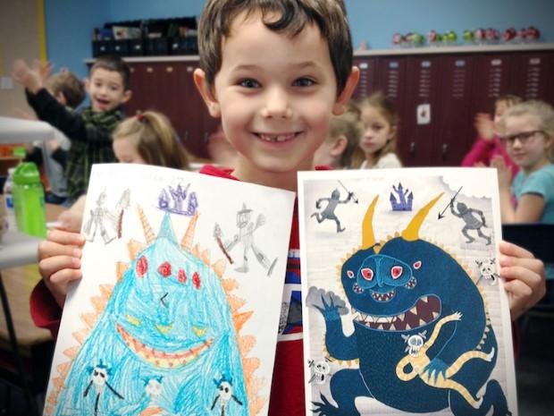 The Monster Project detske kresby dostavaju vdaka umelcom novy rozmer 15
