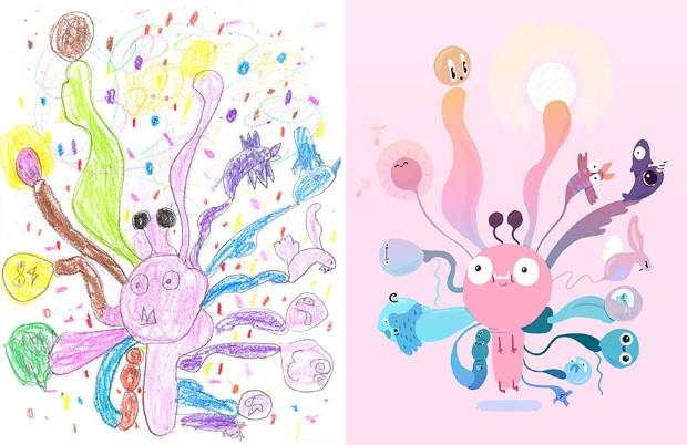 The Monster Project detske kresby dostavaju vdaka umelcom novy rozmer 4
