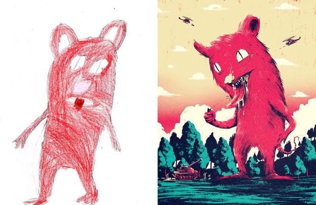 The Monster Project detske kresby dostavaju vdaka umelcom novy rozmer 9