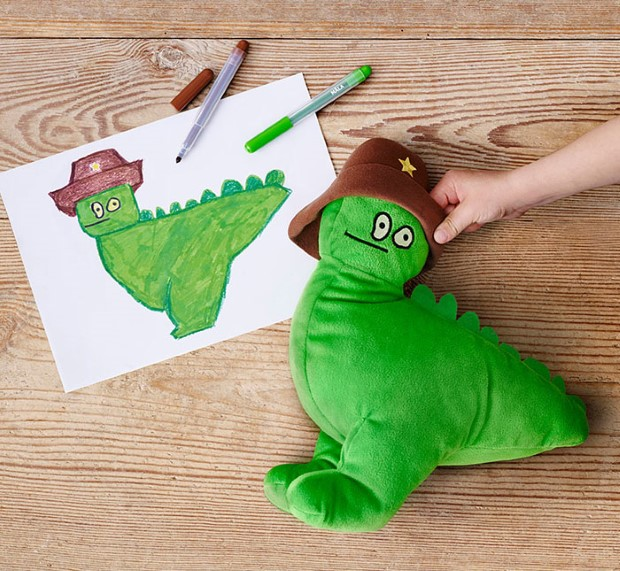 IKEA kampan plysovych hraciek podla predlohy detskych kresieb 2