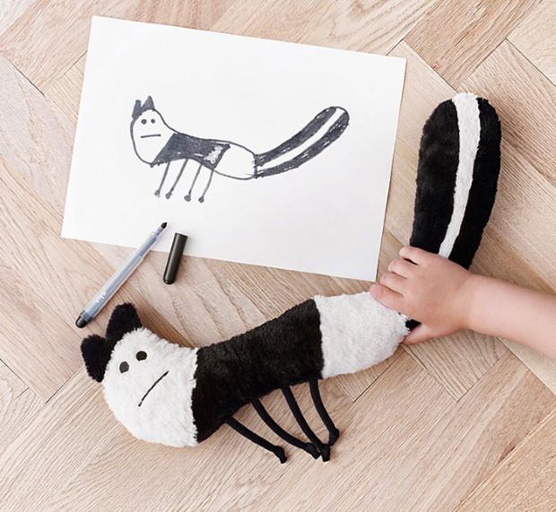 kampan plysovych hraciek podla predlohy detskych kresieb 4