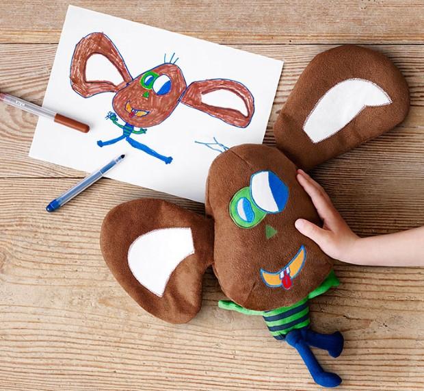 kampan plysovych hraciek podla predlohy detskych kresieb 8
