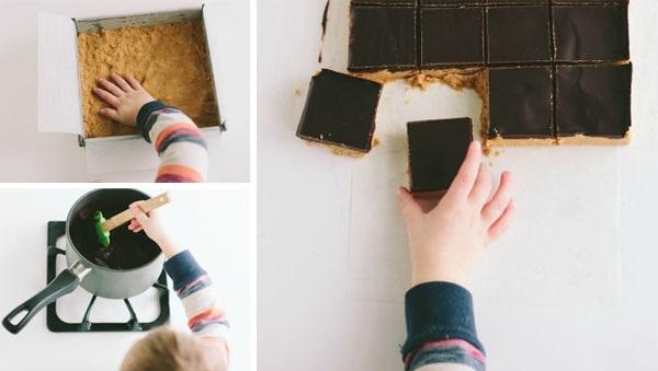 nepecene cokoladovo arasidove kocky postup