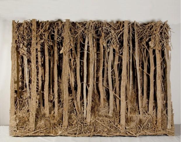 Eva Jospin umenie lesy z kartonu 4