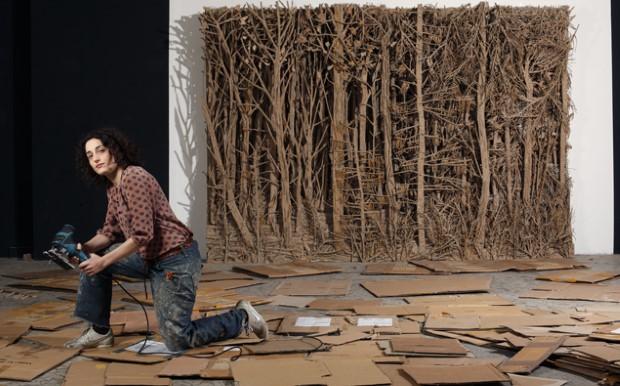 Eva Jospin umenie lesy z kartonu 6