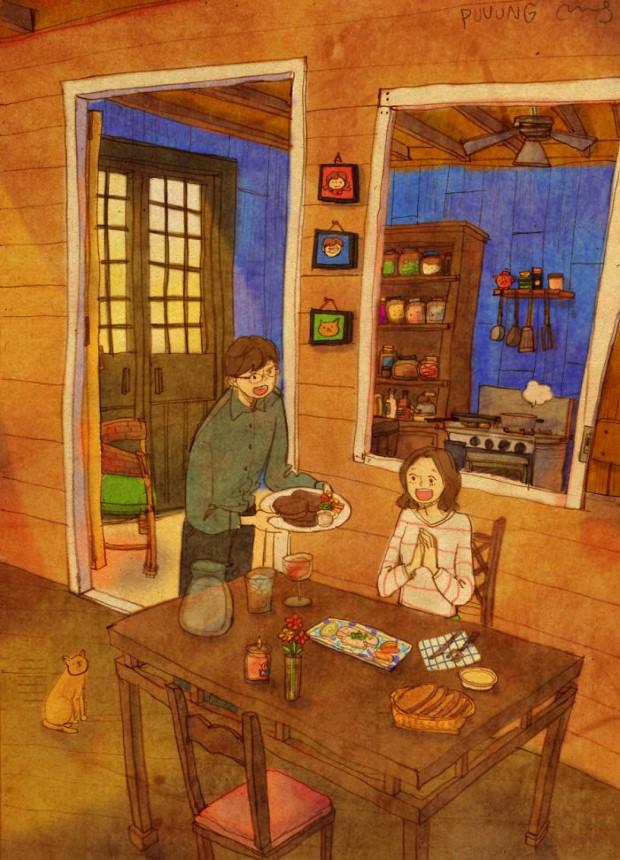 Puuung sladke ilustracie ktore vas naucia co je laska 13