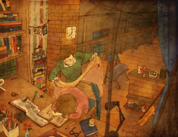 Puuung sladke ilustracie ktore vas naucia co je laska 19