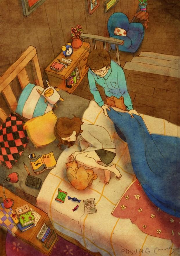 25 veľkých maličkostí, ktoré tvoria skutočnú lásku | Ilustrácie Puuung 2
