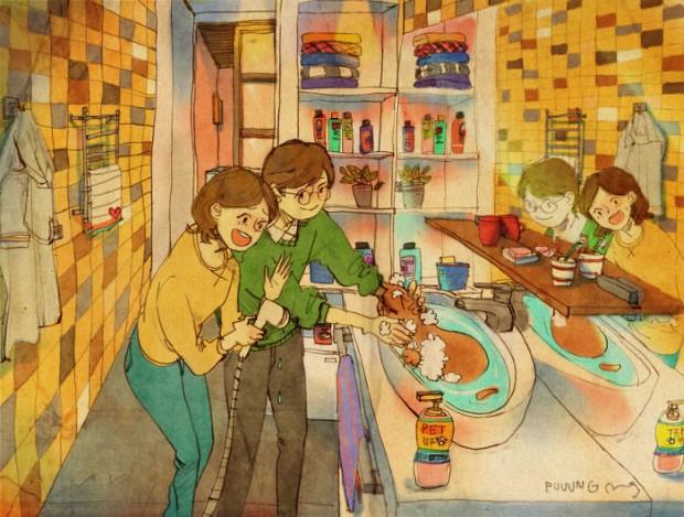 Puuung sladke ilustracie ktore vas naucia co je laska 21