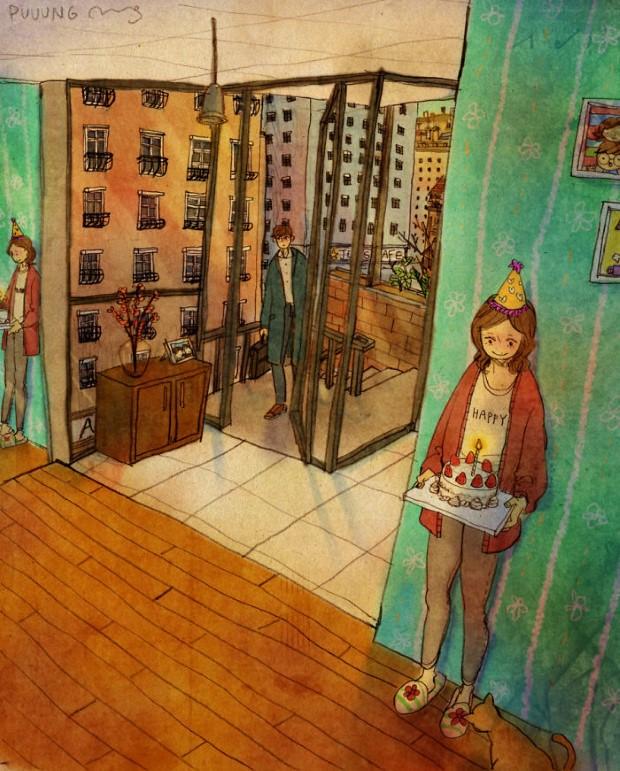 Puuung sladke ilustracie ktore vas naucia co je laska 9