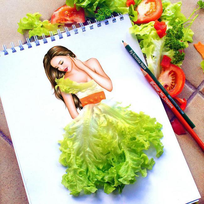 Farebné ilustrácie doplnené bežnými predmetmi Kristina Webb 2