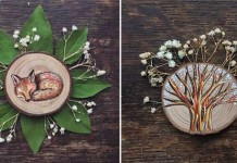 Maľby na recyklované drevo