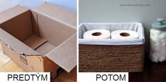 Premena krabice na úložný box | DIY nápad a návod