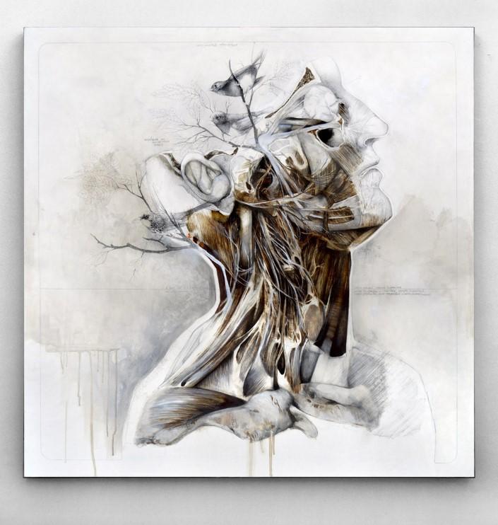 Nunzio Paci grafitove a olejove malby 1
