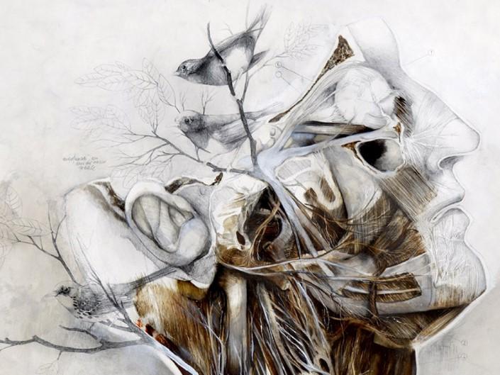 Nunzio Paci grafitove a olejove malby 2