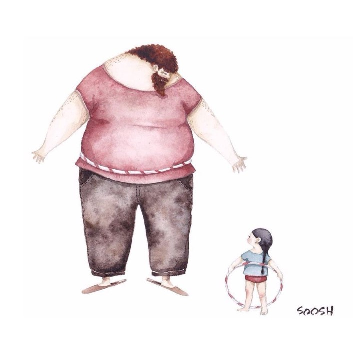 Snezhana Soosh ilustracie vztahu otca a dcery 13