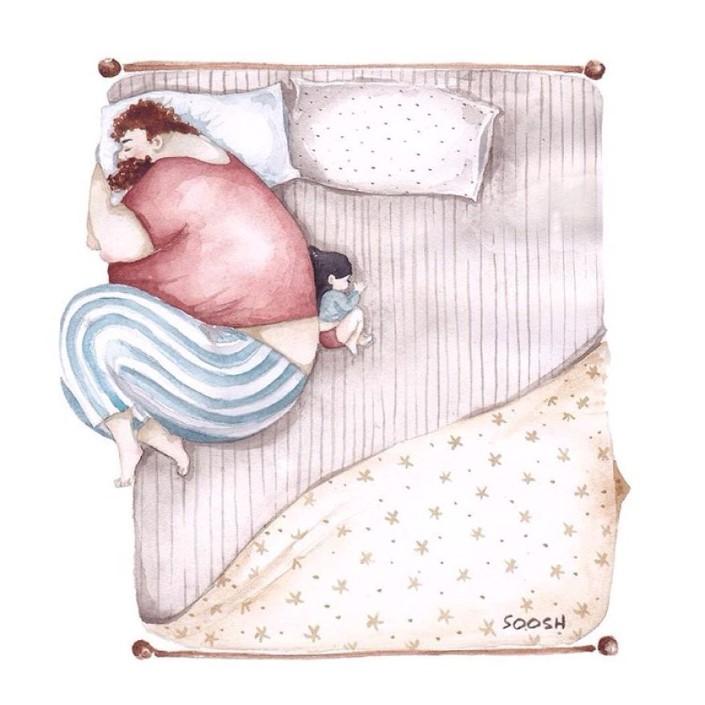 Snezhana Soosh ilustracie vztahu otca a dcery 5