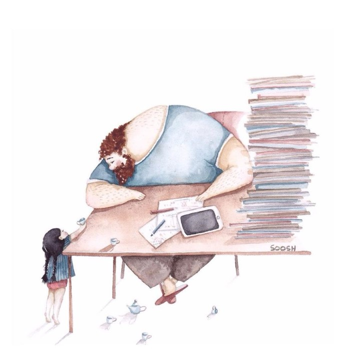 Snezhana Soosh ilustracie vztahu otca a dcery 6