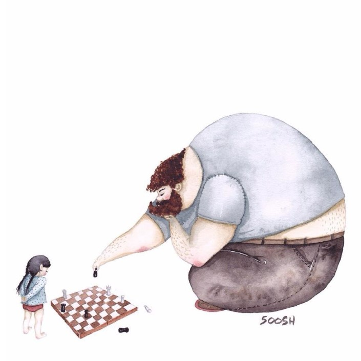 Snezhana Soosh ilustracie vztahu otca a dcery 9