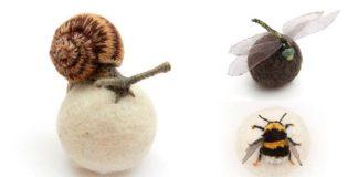 3D vyšívaný hmyz, ktorý vyzerá ako živý | Claire Moynihan