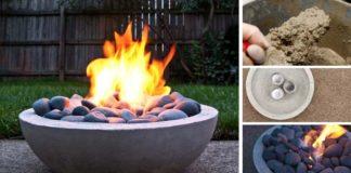 Betónové ohnisko vlastnými rukami   DIY nápad a návod ako na to