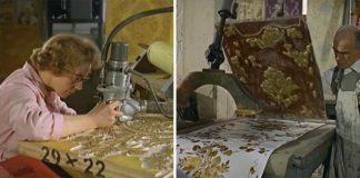 Ako sa vyrábali tapety na stenu v roku 1963. Obdivuhodná práca!