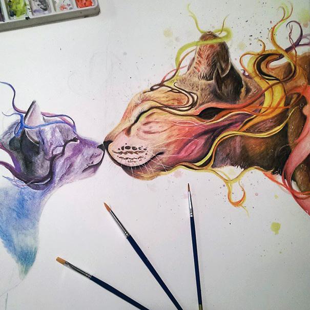 Dany Lizeth malby zvierat a ludi 7