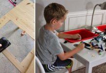 LEGO stôl pre deti na hranie sa s legom   Kreatívny nápad a návod