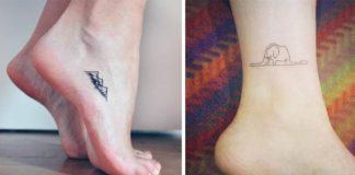 Nápady na malé, no nápadité tetovania na nohách