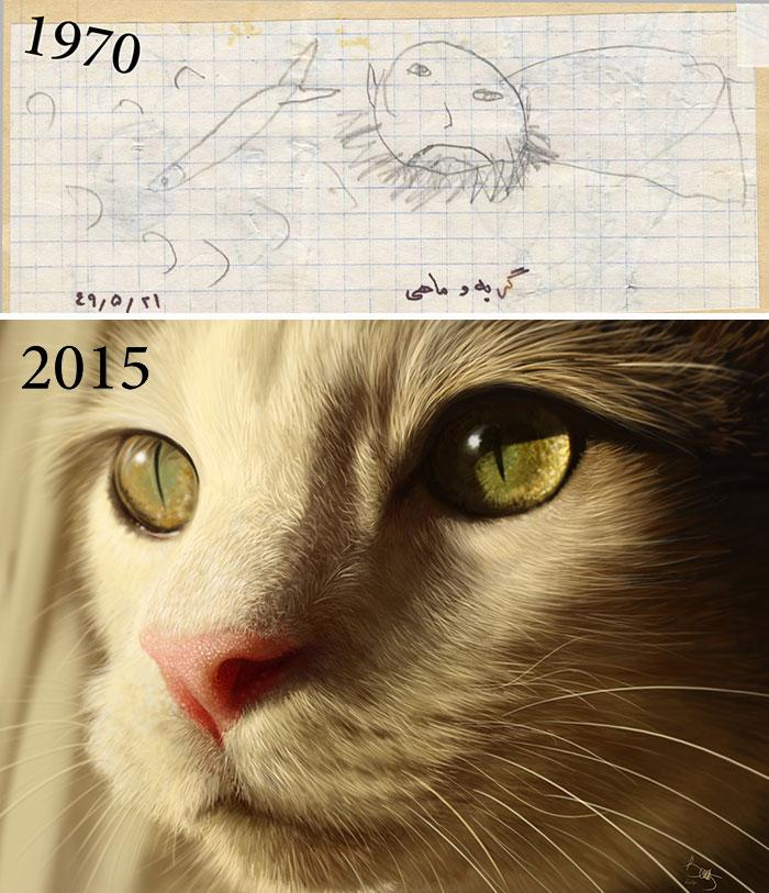 predtym a potom pokrok umelcov 2