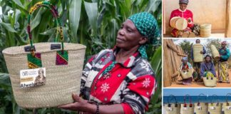 Ručne pletené tašky, koše a košíky Vikapu Bomba z Tanzánie