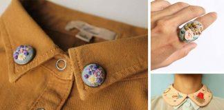 Miniatúrne výšivky na oblečení, doplnkoch a šperkoch   İrem Yazıcı