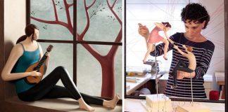 Sochy z hliny vytvárajú snové ilustrácie | Umenie spod rúk Irma Gruenholz