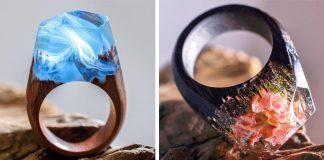 Živicové prstene ukrývajú čarovné miniatúrne svety | Secret Wood