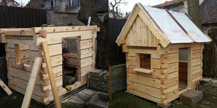 otec postavil na zahrade domcek pre syna podla vzoru tradicnych chalup4