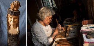 Umelecká rezbárka Deng Daohang mení drevo na unikátne sochy