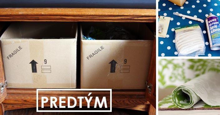Úložné boxy z kartónových krabíc | Kreatívny DIY nápad a návod