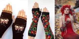 Pletené bezprstové rukavice | Handmade tvorba Natalija Branchevičienė